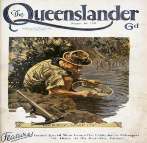 Illustrated front cover from The Queenslander, August 16, 1934