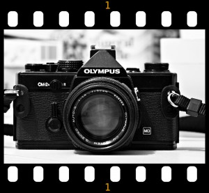 camera black and white