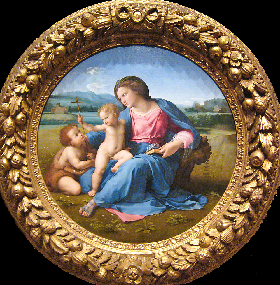the alba madonna by raphael Raphael's alba madonna alba madonna , by raphael (click to enlarge) the alba madonna was painted in approximately 1510 and is named for the spanish family that owned it for generations.