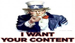 I want your content - Uncle Sam